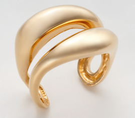R 6303 S gold plated-silver ring 925
