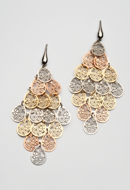 "S-OR-1066 Gold plated silver earrings ""Drops"""