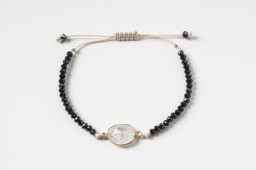 S-Br295 Bracelet made of crystals and moonstone