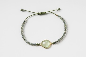 S-Br297 Bracelet made of crystals and peridot