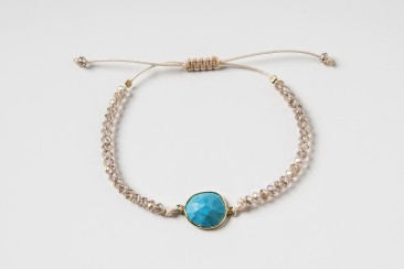 S-Br-291 Bracelet made of crystals and turqoise