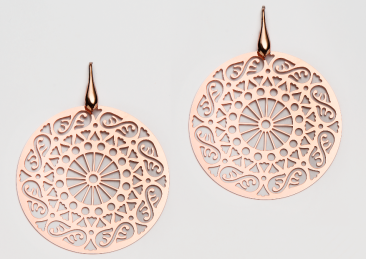 "S-OR-0991 Gold plated silver earrings ""Andalusian"""